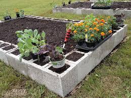 concrete raised garden beds concrete block raised beds