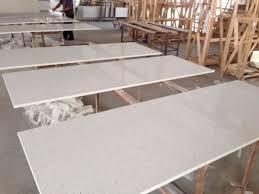 p008 white quartz with miter edge high quality countertop kitchen worktop bar top