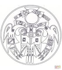 Coloring Pages Native American Mandala Coloring Page Free Printable