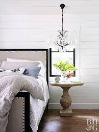 bedroom chandelier bed