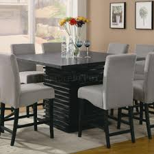 stanton counter height dining table in black  coaster woptions