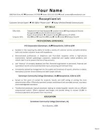 administration secretary hospital sample job description templates receptionist resume receptionistsecretary hotel template designs outlines free 960