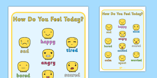 How Do You Feel Today Building Block People Emotions Chart