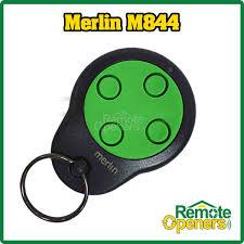 m844 merlin garage door remote control handset