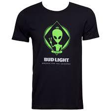 Bud Light Alien Bud Light Alien Mens Black T Shirt