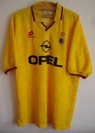 Ac milan and puma logo. Rare Ac Milan Lotto Yellow Away 3rd Opel Shirt Xl 94 95 162148731