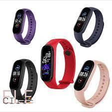 Ele】⚡⚡Đồng hồ thông minh M5 vòng đeo tay sức khỏe trẻ em đổi hình nền cá  nhân đo nhịp tim - Đồng hồ thông minh