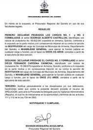 Destituyen al exconcejal Rodrigo Alberto Castrillón - Periodismo  Investigativo