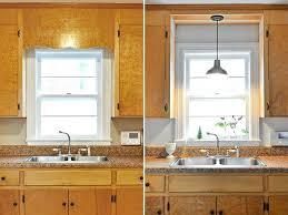pendant light over sink remove decorative wood over kitchen sink and install pendant fixture instead of pendant light over sink