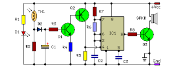 how to build fire alarm using thermistor circuit diagram fire alarm circuit using thermistor at Fire Alarm Circuit Diagram