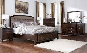 Larimer Upholstered Storage Bedroom Set in Dark Brown