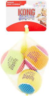 KONG Squeakair <b>Birthday Balls</b> Dog Toy, Color Varies, 2.5-in, 3 ...