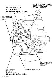2000 honda civic serpentine belt routing and timing belt diagrams