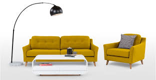 A 3 seater sofa, in Mustard Yellow
