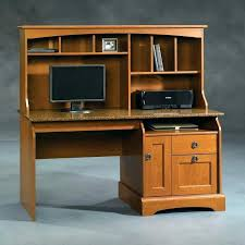 sauder harbor view computer desk with hutch antiqued white s