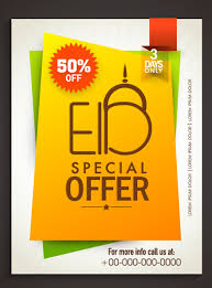Eid Special Offer Sale Flyer Vector Set 03 Free Download
