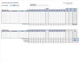 Operations Employee Operations Employee Timecard