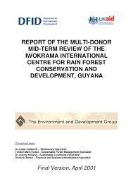 Mtr Organization Chart Iwokrama Mtr Final Report Edg For Dfid 2000 Tmk