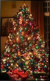 Homely Idea Colored Christmas Tree Lights Multi In Living Room