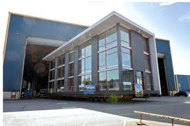 contemporary office building. Multi-Storey Prefab Office Building Delivered By Barge : TreeHugger Contemporary Y