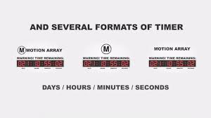 countdown templates countdown timer after effects templates motion array