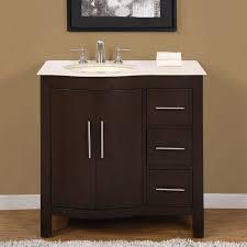 silkroad exclusive natural stone countertop bathroom single sink vanity cabinet lavatory 36 inch