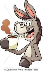 drinking coffee clipart. Contemporary Clipart Donkey Drinking Coffee  Csp31676450 With Drinking Coffee Clipart