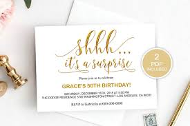 Surprise Party Invitation Template Dad_20