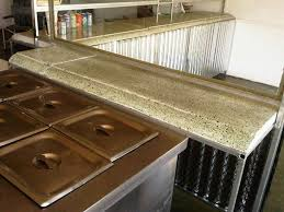 image of recycled glass countertops