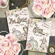 Alice In Wonderland Name Cards Wedding Place Cards Tea