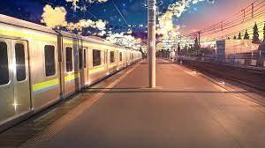 anime original train train station