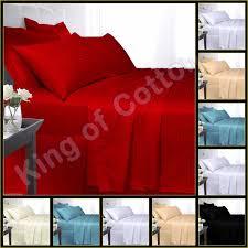 duvet cover with pillowcase quilt cover bedding set egyptian cotton satin stripe