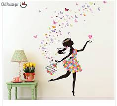 Small Picture Passenger New listing wall stickers butterfly girl stylish