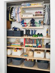 kids closet. Featured Products: White \u0026 Birch Elfa Décor Kid\u0027s Reach-In Closet // Bigso Marten Navy Office Storage Boxes Hampton Woven Bins With Handles Kids