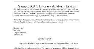 sample k c essays google docs