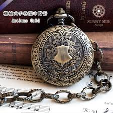only as for the mechanical rolling by hand watch shield emblem antique gold it is a necklace key ring option pendant watch skeleton