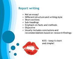 welcome preparation for higher education phe ppt  report writing not an essay different structure and writing style