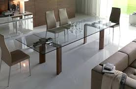 modern glass dining table round uk caesar set with 6 seater