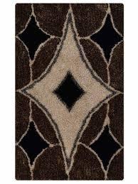 details about geometric plush brown black silver modern 5x8 6x9 gy oriental area rug