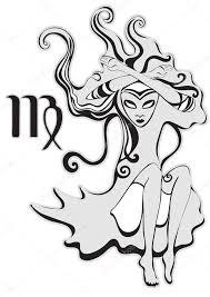 Znamení Zvěrokruhu Panna Piková Královna Psychedelické Abstraktní
