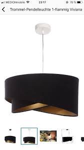 Lampe Schwarz Gold Wohnzimmer Deckenlampe Meine