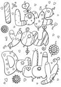 Small Picture I Love You Mom and Dad coloring page Free Printable Coloring Pages