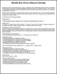 Gallery Of Great Sample Resume Shuttle Bus Driver Resume Sample