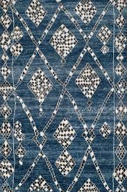 luxury blue moroccan rug tr 012