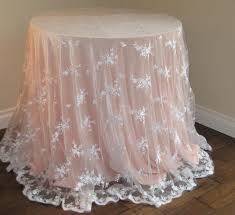 white lace tablecloth round 60 x 120 house quaker oval