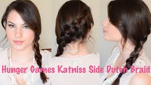 Hunger Games Katniss Side Dutch Braid Hair Tutorial Youtube
