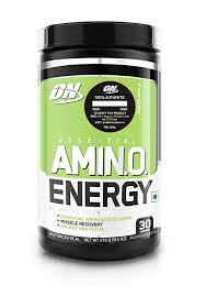 Optimum Nutrition (<b>ON</b>) <b>Amino Energy</b> BCAA Drink - 30 Servings ...