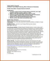 Resident Assistant Job Description Resume Research Assistant Resume ...