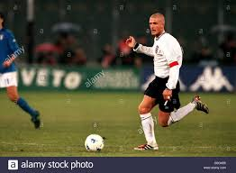 Calcio - amichevole - Italia / Inghilterra. David Beckham, Inghilterra Foto  stock - Alamy