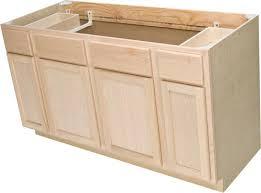 quality one u2122 60 x 34 1 2 unfinished oak sink base kitchen cabinets menards